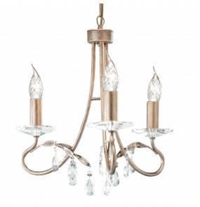 Lampa wisząca Christina 3 CRT3 Elstead Lighting złota oprawa w klasycznym stylu