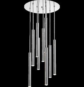 Lampa wisząca Loya P0461-09C-B5F4 chormowana oprawa w dekoracyjnym stylu
