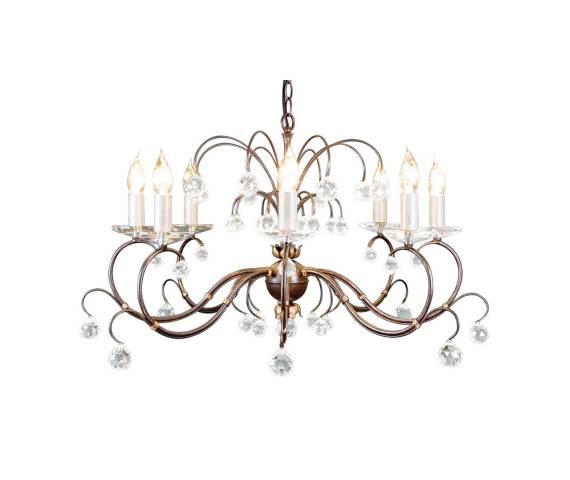 Żyrandol Lunetta 8 LUN8 BR Elstead Lighting klasyczna oprawa w dekoracyjnym stylu