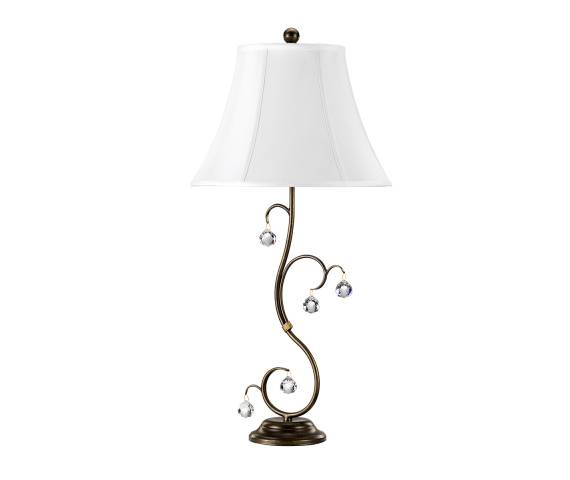 Lampa stołowa Lunetta LUN/TL BR Elstead Lighting klasyczna oprawa w dekoracyjnym stylu