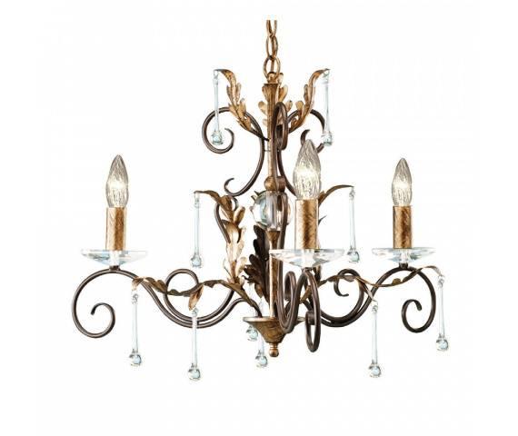 Żyrandol Amarilli AML3 BR/GLD Elstead Lighting brązowo-złota oprawa w klasycznym stylu