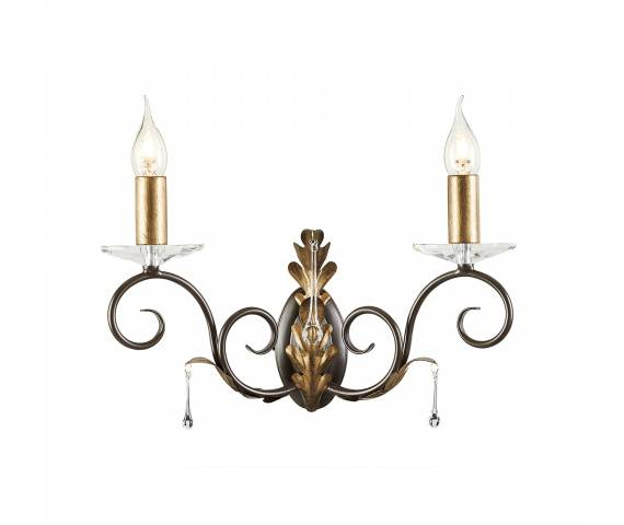 Kinkiet podwójny Amarilli AML2 BRONZE Elstead Lighting brązowo-złota oprawa w klasycznym stylu