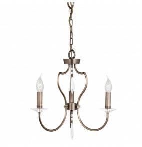 Lampa wisząca Pimlico PM3 DB Elstead Lighting klasyczna oprawa w kolorze ciemnego brązu