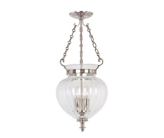 Lampa wisząca Finsbury Park FP/P/M PN Elstead Lighting klasyczna oprawa w kolorze polerowanego niklu