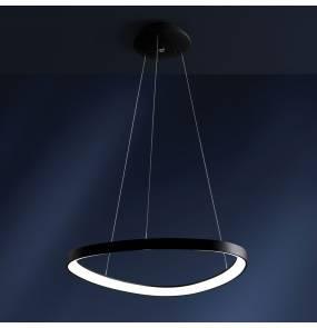 Lampa wisząca Lifering 0083.31.NE VIVIDA International imponująca lampa wisząca czarna LED przekątna 80,6 cm