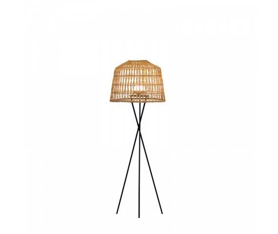 Lampa stojąca ogrodowa AMALFI New Garden nowoczesna lampa ratanowa stojąca