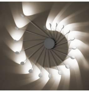 Kinkiet/Plafon Helix 0047.11.BI DIM |  VIVIDA International niezwykły kinkiet/plafon w kolorze białym | LED + możliwość ściemniania