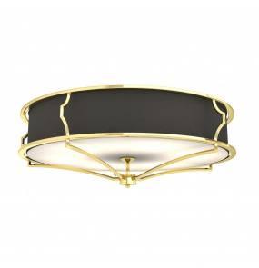 Plafon Stesso Gold/Nero L Orlicki Design dekoracyjna oprawa w kolorze złota i czerni
