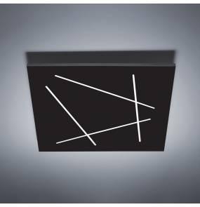 Plafon Flat 0002.21.NE W VIVIDA International efektowna lampa sufitowa w kolorze czarnym   LED   ciepła barwa   średni