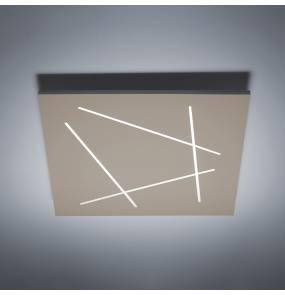 Plafon Flat 0002.22.SA W VIVIDA International efektowna lampa sufitowa w kolorze piaskowym   LED   ciepła barwa   duży