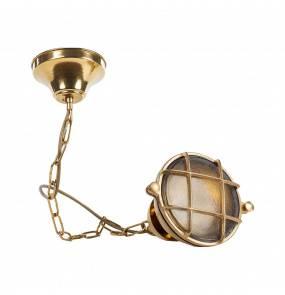 Lampa wisząca Milos A56KZ Zuma Line mosiężna oprawa szkło łańcuch