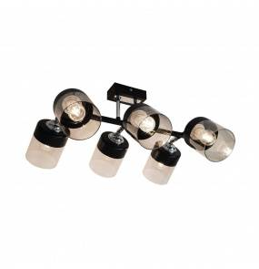 Lampa wisząca sufitowa PORTO CL19020-6-BL E14 Zuma Line czarna LED szkło