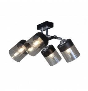 Lampa wisząca sufitowa PORTO CL19020-4-BL E14 Zuma Line czarna LED szkło