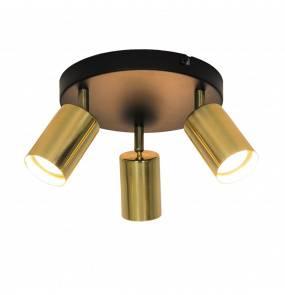 Lampa sufitowa VILA GU13013C-3R GU10 Zuma Line SPOT loft metalowa LED czarna złota