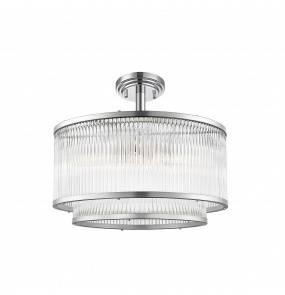 Lampa sufitowa SERGIO C0528-05H-F4AC E14 Zuma Line LED srebrna szkło