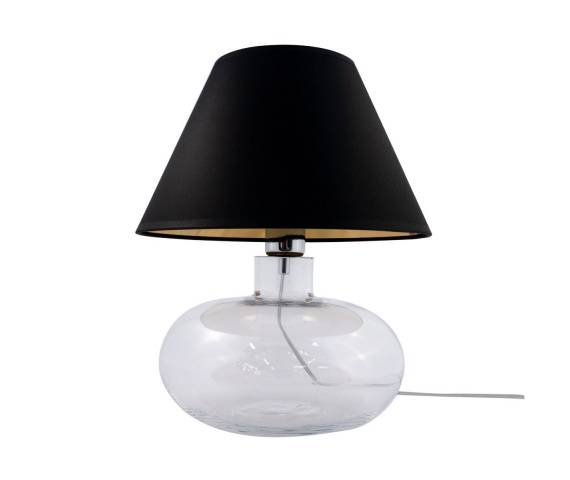 Lampa stołowa MERSIN TRANSPARENT 5514BKGO E27 Zuma Line szkło dekoracyjna