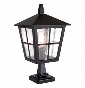 Lampa zewnętrzna stojąca Canterbury BL50M Elstead Lighting czarna oprawa zewnętrzna w klasycznym stylu