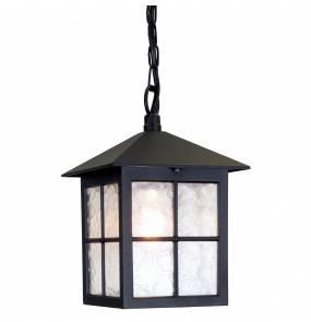Lampa wisząca zewnętrzna Winchester BL18B Elstead Lighting czarna oprawa w klasycznym stylu