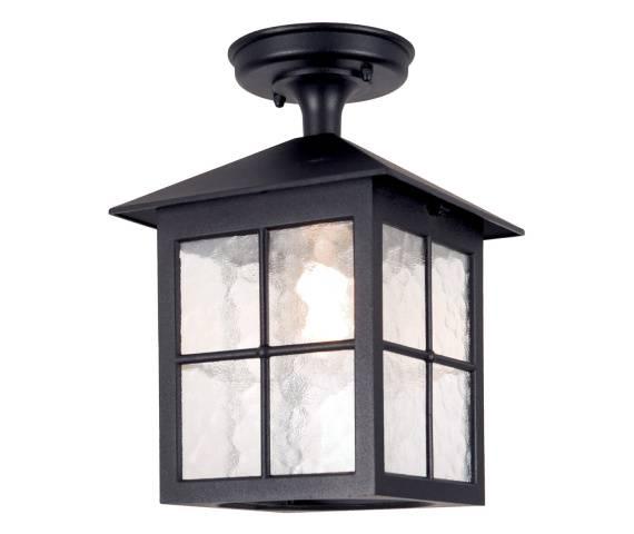 Plafon zewnętrzny Winchester BL18A Elstead Lighting czarna oprawa sufitowa w klasycznym stylu