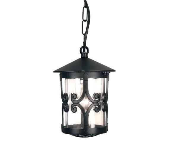 Lampa wisząca zewnętrzna Hereford BL13B Elstead Lighting klasyczna oprawa w kolorze czarnym