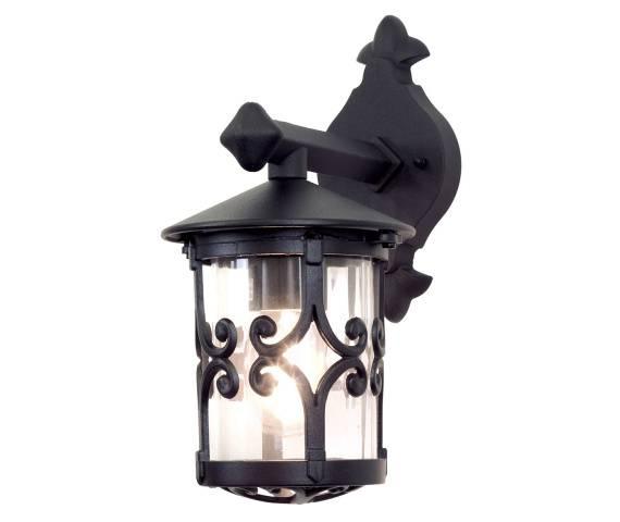 Kinkiet zewnętrzny Hereford BL8 Elstead Lighting klasyczna oprawa ścienna w kolorze czarnym