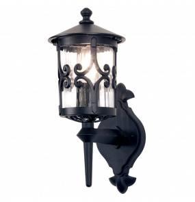 Kinkiet zewnętrzny Hereford BL10 Elstead Lighting klasyczna oprawa ścienna w kolorze czarnym