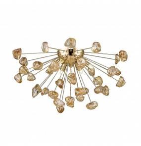 Lampa sufitowa STAR C0539-06A-F7DY Zuma Line dekoracyjna oprawa w kolorze złotym