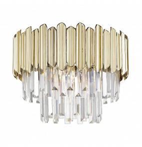Lampa sufitowa GLADIUS C0535-05B-F4J7 Zuma Line dekoracyjna oprawa w kolorze złotym