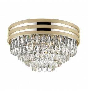 Lampa sufitowa NAICA C0525-05A-V6B5 Zuma Line dekoracyjna oprawa w kolorze złotym