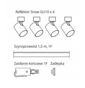 Snow SET 1F biały