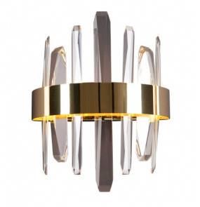 Kinkiet kryształowy LED Prince oprawa w kolorze złotym W0287 MaxLight