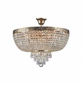 Lampa sufitowa Palace DIA890-CL-06-G 50 cm Maytoni dekoracyjna oprawa w kolorze antycznego złota