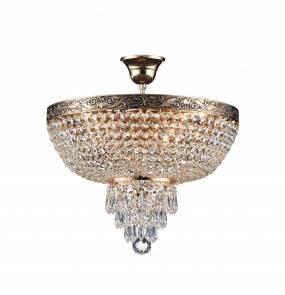 Lampa sufitowa Palace DIA890-CL-05-G 40 cm Maytoni dekoracyjna oprawa w kolorze antycznego złota