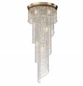 Lampa sufitowa Cascade DIA522-CL-12-G Maytoni dekoracyjna oprawa w kolorze złota