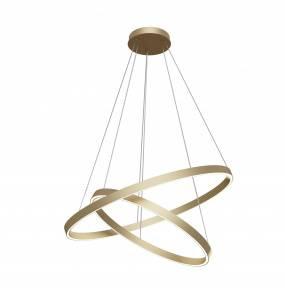 Lampa wisząca Rim MOD058PL-L74BS4K LED Maytoni dekoracyjna oprawa w kolorze mosiądzu