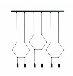 Lampa wisząca Linea-6 XT100-6P Step Into Design czarna oprawa w stylu nowoczesnym