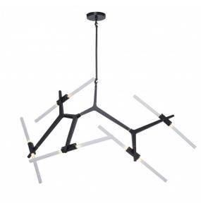Lampa wisząca STICKS-10 Step Into Design czarna oprawa w stylu nowoczesnym