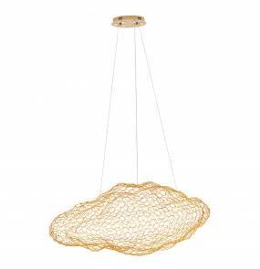 Lampa wisząca Stardust w kolorze złotym P0432 MaxLight