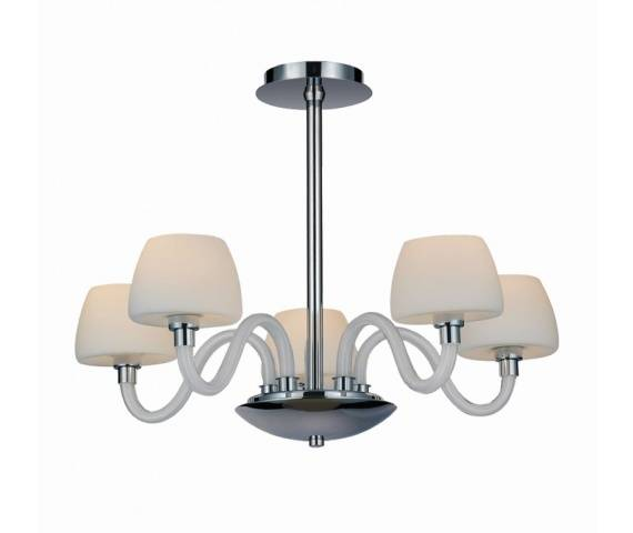 ŻARÓWKI LED GRATIS! Lampa wisząca Gloria 5 MC2030-5 AZzardo klasyczna oprawa w kolorze białym