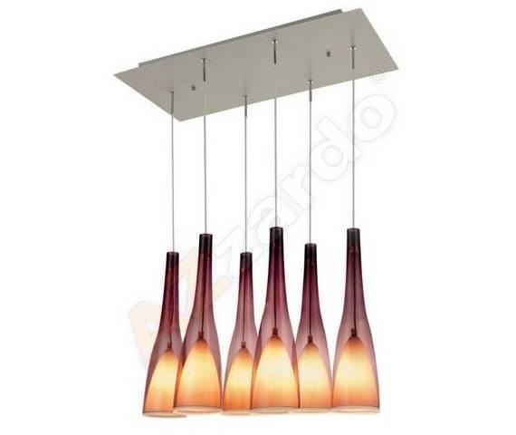 ŻARÓWKI LED GRATIS! Lampa wisząca Sunset 6 AZ0150 AZzardo dekoracyjna oprawa w nowoczesnym stylu