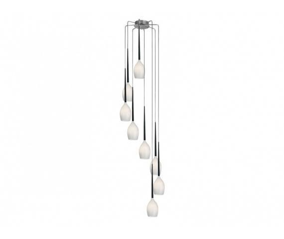 ŻARÓWKI LED GRATIS! Lampa wisząca Izza 8 AZ0160 AZzardo biała oprawa w nowoczesnym stylu