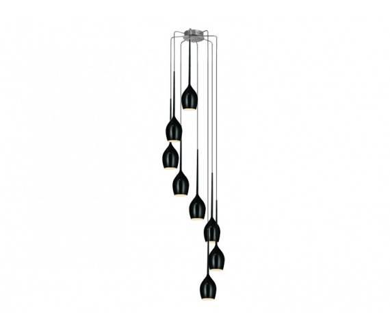 ŻARÓWKI LED GRATIS! Lampa wisząca Izza 8 AZ0159 AZzardo czarna oprawa w nowoczesnym stylu
