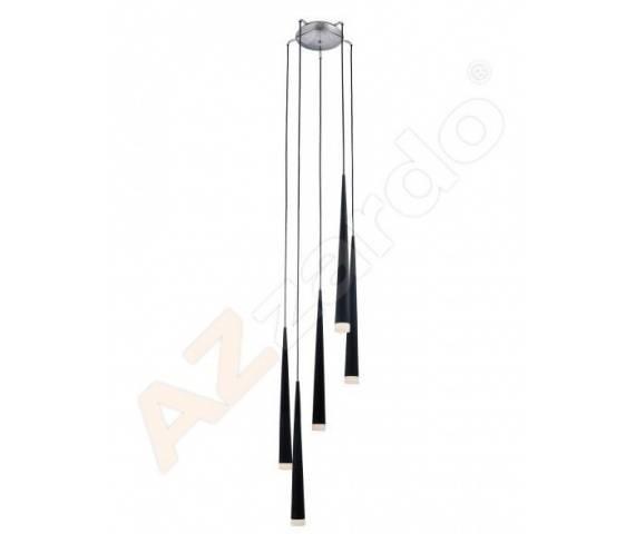 Lampa wisząca Stylo 5 AZ0119 AZzardo czarna oprawa w stylu design
