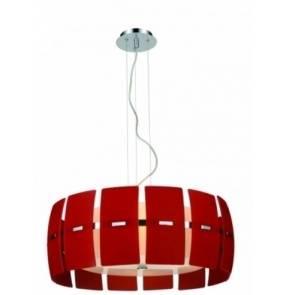 ŻARÓWKI LED GRATIS! Lampa wisząca Taurus MD2050-4R AZzardo dekoracyjna oprawa w kolorze czerwonym