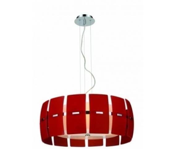 ŻARÓWKI LED GRATIS! Lampa wisząca Taurus AZ0162 AZzardo dekoracyjna oprawa w kolorze czerwonym