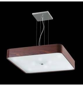 Lampa wisząca kwadratowa fornir DOMINO 65 W-8 67389 nowoczesna oprawa zwieszana Ramko