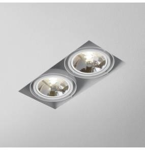 Oczko halogenowe SQUARES 111x2 trimless 12V oprawa wpuszczana 31912-0000-T8-PH AQform podwójna oprawa w nowoczesnym stylu
