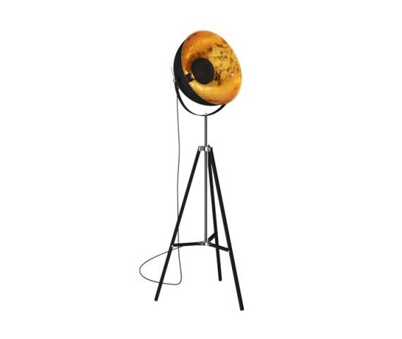 ŻARÓWKA LED GRATIS! Lampa podłogowa Antenne TS-090522F-BK Zuma Line czarno-złota oprawa w stylu design
