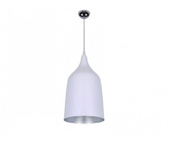 ŻARÓWKA LED GRATIS! Lampa wisząca Fabio M LP5632WH-M AZzardo biała oprawa w stylu design