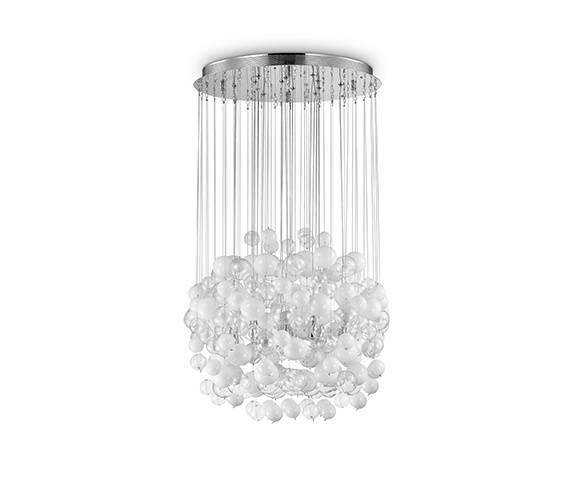 Lampa wisząca Bollicine SP14 087924 Ideal Lux biała oprawa w nowoczesnym stylu